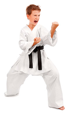 Child black belt teacher.