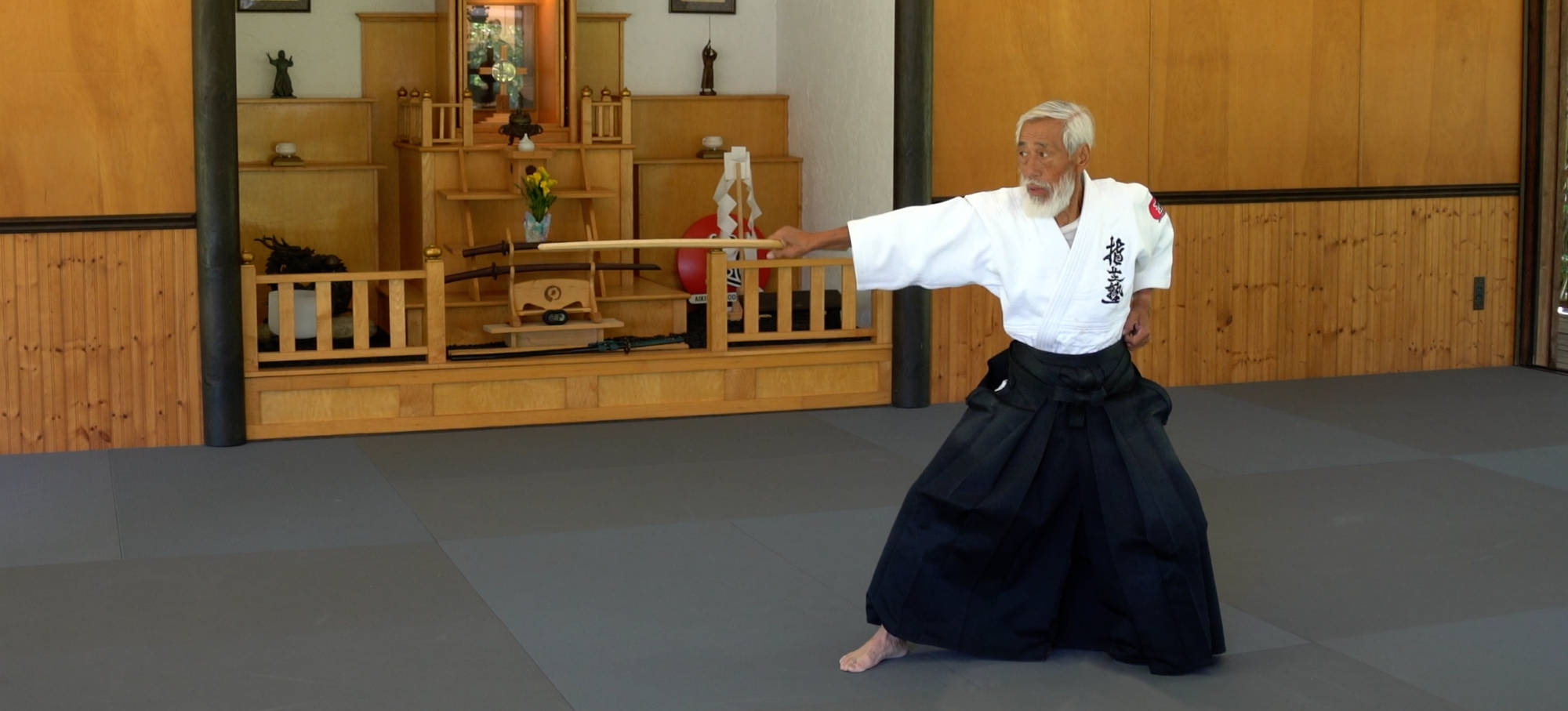 Shihan Mitsugi Saotome at the Aiki Shrine
